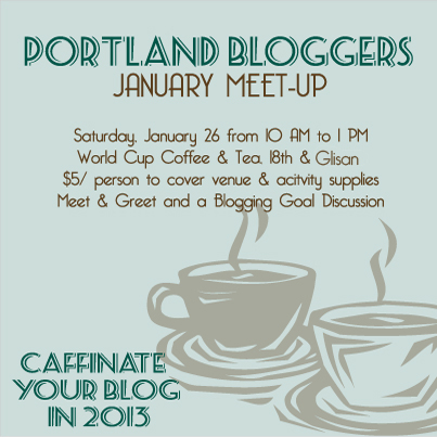 Portland Bloggers' Meet Up Slated for Jan 26